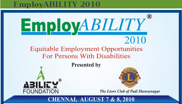 Job fair 2010 for Differently Abled Persons