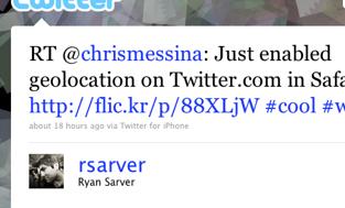 Twitter / Ryan Sarver: RT @chrismessina: Just ena ...