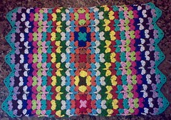 Place Mat - Cotton Thread (LauraLRF) Tags: colors thread punto stitch crochet colores placemat cotton hilo granny mantel potholder algodon tejido ganchillo