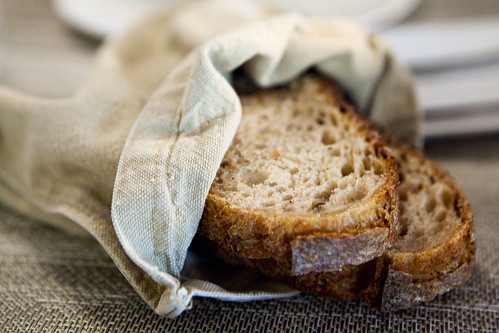 I adore the linen bread bag