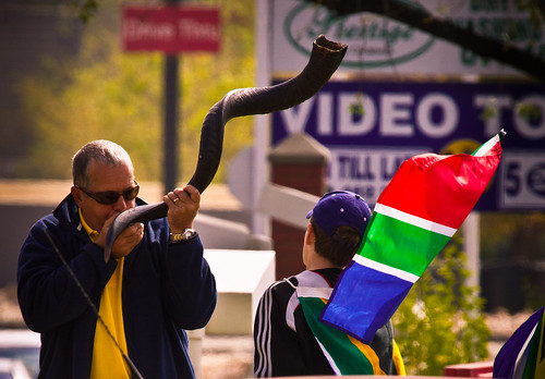 Vuvuzela - the genuine article (seen in Douglasdale, Fourways, Johannesburg)