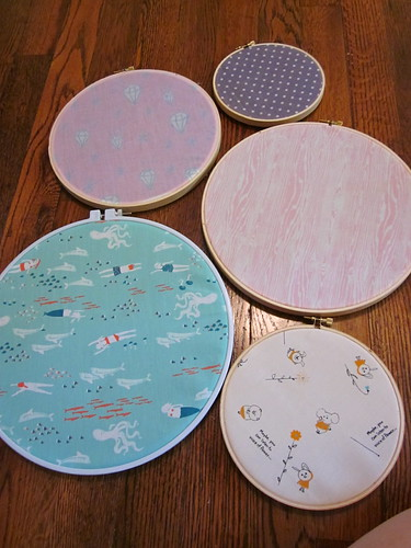 Embroidery Hoop Fabric Art 4