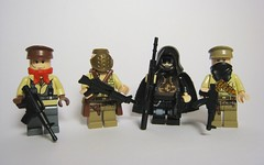 Post-Apoc Faction 2 (Jackbrick101) Tags: new contrast post lego no background yes or rifle apocalypse halo terrorist sniper ba fraction bf m4 lmg magnum ak47 apoc m21 faction brickarms brickfroge