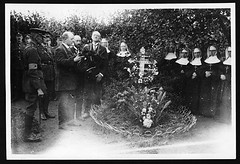 Scene during the ceremony (National Library of Scotland) Tags: france war propaganda wwi great photojournalism nuns graves worldwari worldwarone soldiers ww1 greatwar firstworldwar funerals flanders sheriffs thegreatwar 19141918 warphotography photographicprints nls:dodprojectid=74462370 organization:library=nationallibraryofscotland owner:name=nationallibraryofscotland nls:source=solrxml blackandwhiteprintsphotographs worldwar19141918campaignswesternfront nlsshelfmark nlsvoyagerid wreathscostumeaccessories nls:dodid=74546216 nls:derivative=74300642