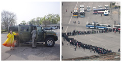 Hummer and waiting line in Pyongyang - North Korea (Eric Lafforgue) Tags: bus car war asia korea explore queue transportation asie hummer coree northkorea pyongyang dprk coreadelnorte buse vsd 6153 nordkorea 4518    coreadelnord   insidenorthkorea  rpdc  kimjongun coreiadonorte  lafforgueasia