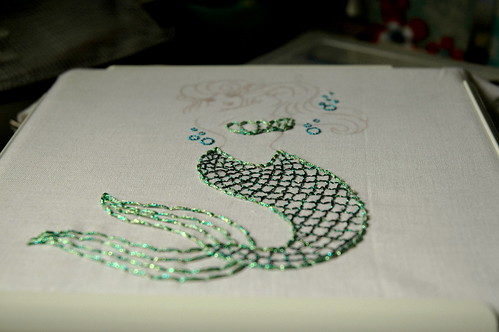 sparkly mermaid WIP