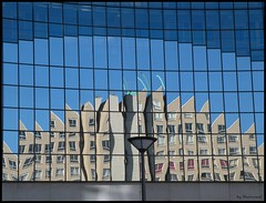 Gezichtsbedrog (Shahrazad26) Tags: reflection building reflexions picnik voorburg architectuur gebouw weerspiegeling reflectie