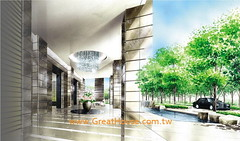 惠宇澄峰:迎賓門廳與迎賓迴車道