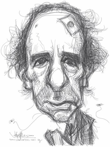 sketch study 2 of Harry Shearer on iPad
