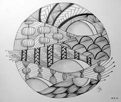Hey Jupiter (Jo in NZ) Tags: pen ink drawing line doodle zentangle nzjo zendoodel