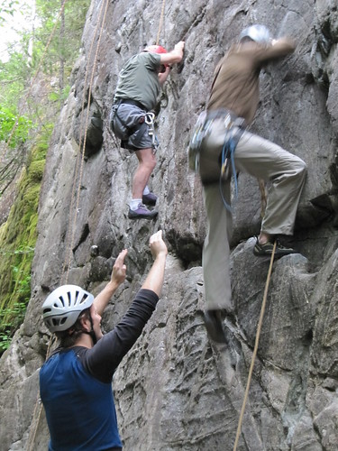 Martin sport lead climbing the Real TV route..