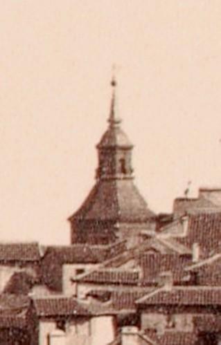 Cúpula del Convento de Agustinos Recoletos fotografiada en 1857 justo antes de su derribo. Detalle de una fotografía de Charles Clifford