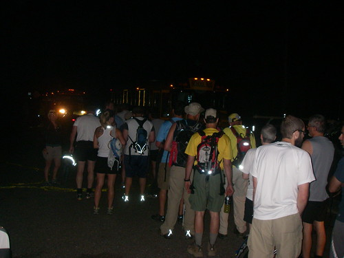 Waiting in the pre-dawn morning for the start for the 2010 Rachel Carson Challenge