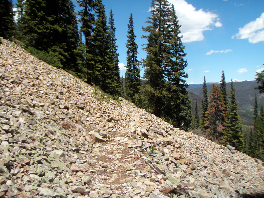 Trail across the talus field