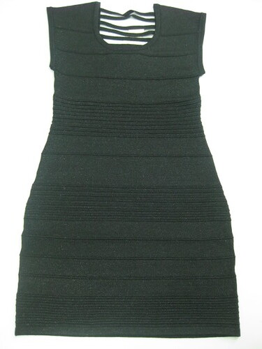 black bandage dress, P469