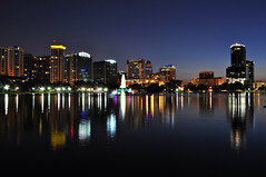 Downtown Orlando After Dark.... (Seth Oliver Photographic Art) Tags: night buildings nikon skyscrapers florida cityscapes fair clear citylights nightshots lakeeola pinoy nightscapes urbanscapes citiesatnight longexposures centralflorida orlandoflorida manualmode d90 nightexposures 10secondexposure eolapark yahooweather moderncities aperturef16 modernskyscrapers setholiver1 18105mmnikkorlens nocturneimages southendofeolapark