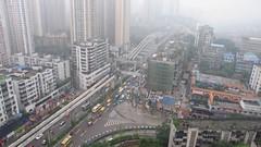 Chongqing traffic (Manuel.A.69) Tags: china road street city urban bus car big google highway flickr traffic taxi transport scene metropolis elevated chongqing sichuan congestion chine transporation mega  urbain  appert manuelappert
