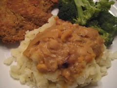 Dinner 2 (seitansaiddance) Tags: vegan sauce meal vwav veganomicon veganmofo