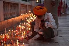 Diwali Wishes (Ajit Pal Singh) Tags: people india festival lights candles lakshmi delhi indian wishes turban sikh gurdwara diwali spiritual devotee hinduism puja sikhism 2010 deepavali jainism photographybyajit bandichhordivas