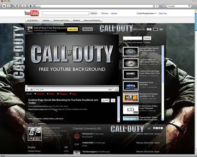 Call of Duty Black Ops Free YouTube Background. Free download: CLICK HERE.