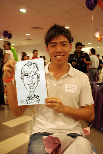 Caricature live sketching for NTU Alumni Club - 1
