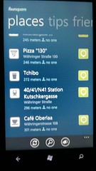 Windows Phone 7 foursquare