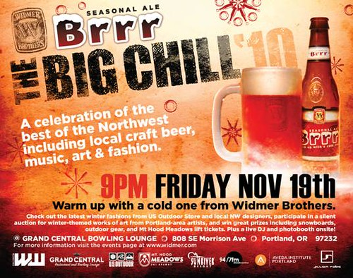 November 19: Widmer Brothers Brewing And Brrr Seasonal Ale Present Big Chill '10 @ Grand Central Bowl