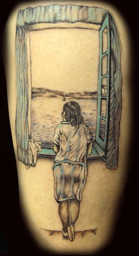 Salvador Dali Tattoo by Ray Tutty