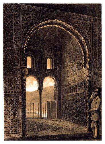011-Balcon de la Sala de Embajadores en la Alhambra-Recuerdos y bellezas de España-Reino de Granada