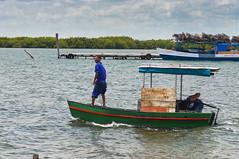 Small fishing boats come and go from Isabela de Sagua (lezumbalaberenjena) Tags: cuba villas villa clara 2017 sea mar ocean oceano atlantico atlantic sagua isabela puerto fishing town pescadores pueblo port bote boat pescando lezumbalaberenjena