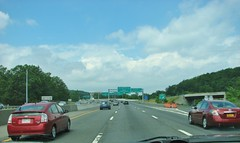 INTERSTATE 287 WESTBOUND (richie 59) Tags: newyorkstate newyork dividedhighway unitedstates weekend trees traffic autos motorvehicles vehicles saturday interstatehighway cars richie59 america outside trucks summer westchestercountyny westchestercounty townofgreenburghny townofgreenburgh interstate287 2017 july12017 july2017 i287 elmsfordny elmsford 2010s hudsonvalley nystate ny usa us downstatenewyork downstate downstateny highway freeway road 6lanehighway sixlanehighway 6lane sixlane crosswestchesterexpressway expressway backend taillights exits overpass highwaysigns signs redcars
