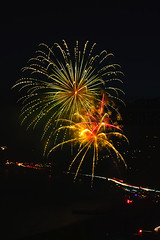 26 (morgan@morgangenser.com) Tags: pacificpalisaddes beach belairbayclub blue celebrate fireworks color iso100 july3rd loud nikon night ocean orange pch people red reflection special spectacular streaks timeexposire tripod yellow amazing