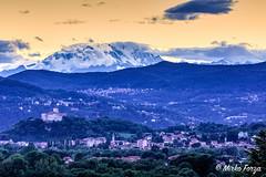 La Rocca di Angera e sua Maesta' il monte Rosa. (mirkoforza) Tags: sunset monte rosa rocca angera taino hdr sky month yellow nikon d7200 sigma 105 105mm 28 paesaggio photo foto