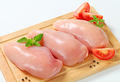 Raw chicken breast fillets (ananseo1) Tags: chickenbreast raw fillet skinless meat boneless chicken uncooked food foodstuff fresh tomato peppercorns spice cuttingboard wooden studioshot fulllength whitebackground czechrepublic đông trùng hạ thảo hấp ức gà