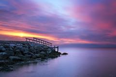 The Pier (Tony N.) Tags: danemark denmark midjylland jutland seascape sea balticsea merbaltique juelsminde pier ponton sunrise leverdesoleil levant poselongue longexposure nd64 d810 vanguard tonyn tonynunkovics