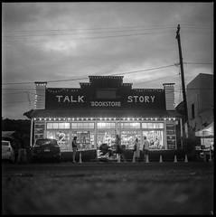 Talk Story (argentography) Tags: 124 shop hanapepe artnight talkstory bookstore powells hawaii kauai yashica goldenlight ilford hp5