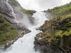 Dancing by Kjosfossen (neil.bulman) Tags: norway cruise scandanavia huldra thomson landofthemidnightsun water flam kjosfossen waterfall thomsoncelebration flåm sognogfjordane no