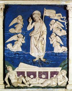 Andrea della Robbia, Resurrezione, 1485-1490. Santa Fiora, pulpito