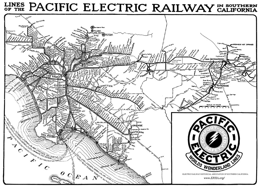 Lines of the Pacific Electric Railway