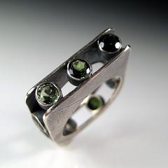 Ring a Day Challenge 1/365 (sarawestermark) Tags: handmade rad ring sterling tourmaline 2010 1365 metalsmith etsymetal sarawestermark 01012010 rad1365 rad2010 ringaday