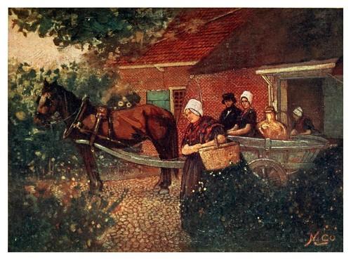 012-carro de la leche en los pueblos de la provincia de Zeeland-Holland (1904)- Nico Jungman