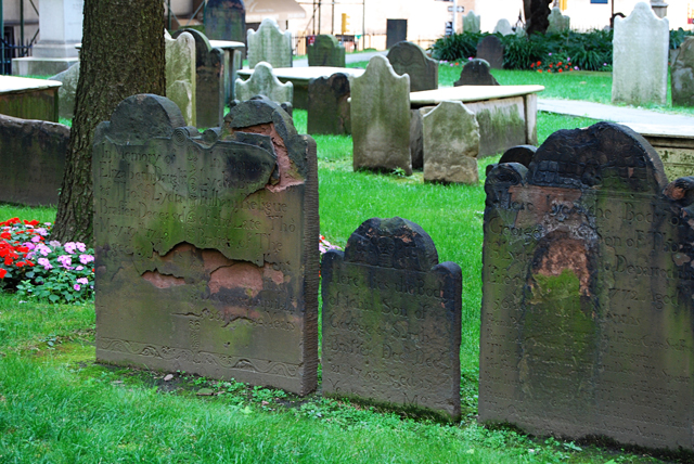Trinity Church gravestones