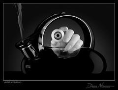 Awakening (dave nitsche) Tags: eye hand tea smoke monotone pot conceptual nitsche