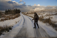Strathy_Scotland_96 (jjay69) Tags: christmas uk winter england snow cold scotland highlands frost boots britain freezing wellingtonboots sutherland wellies rubberboots waterproof rockfish warmclothes furhat downjacket icyroad strathy northernscotland icytrack womaninwellies