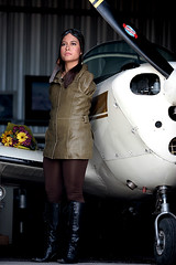 The aviatrix (alljects) Tags: woman feet plane flying with arms jessica aviation cox armless without pilot services motivational