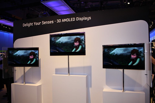 Samsung 3d AMOLED CES-2010