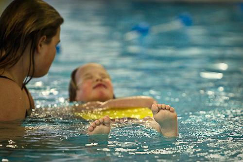 Mare eerste keer zwemles
