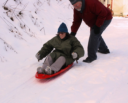 Katie Sledding