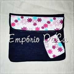 Capa de Notebook Magenta (emporiodaca) Tags: notebook handmade artesanato notebookbag capadenotebook empriodaca