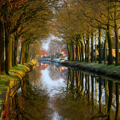 before the snow came......:-)! (atsjebosma) Tags: trees houses water reflections ditch thenetherlands friesland sloot kleuren reflecties atsjebosma mirrorser nosnowtoday geensneeuwvandaag